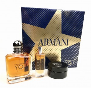 Emporio Armani Stronger With You Giorgio Armani Zestaw EDT 100ml + balsam do modelowania włosów 15ml + EDT 50ml